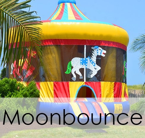 Carousel moon bounce