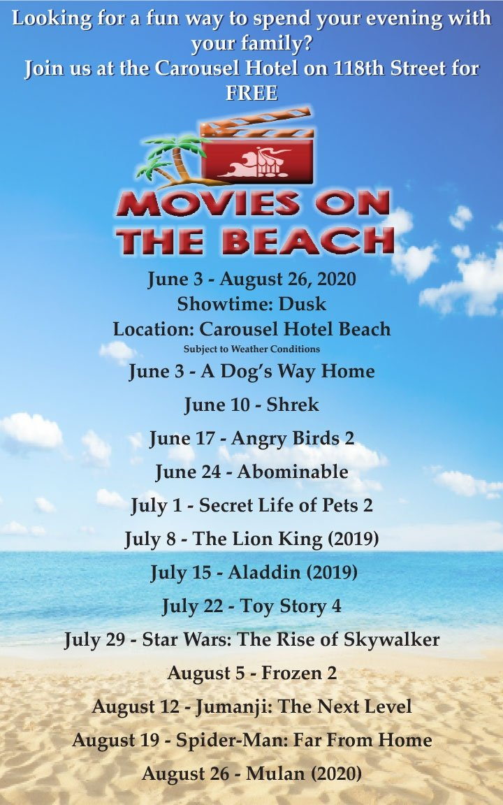 Free Movies on the beach showtimes